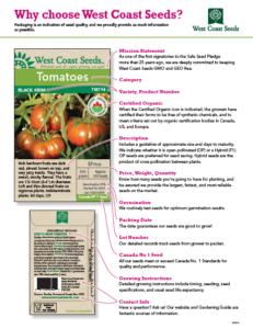 West Coast Seeds Fundraiser