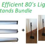 Ultra Efficient 80 Watt Lights and Stands Bundle