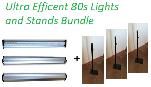 ultra efficent 80s lights and stands bundle image